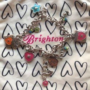 Brighton Havana Bracelet with charms multi-color